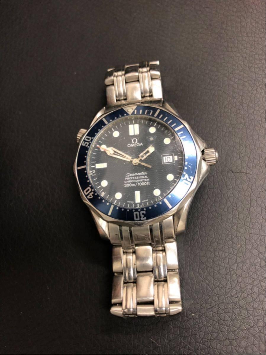 訳あり OMEGA オメガ Seamaster Professional chronometer 300m シーマスター プロフェッショナル クロノメーター 自動巻 メンズ _画像2