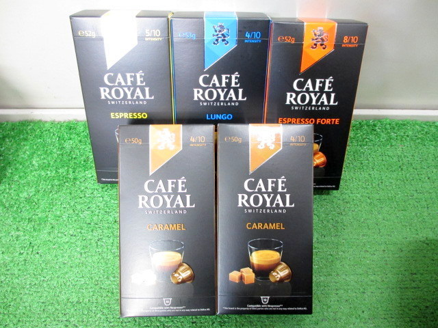 ネスプレッソ互換コーヒーカプセル CAFE ROYAL カフェロイヤル 4種類セット 合計50カプセル