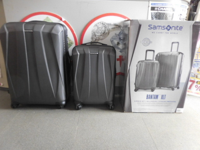 ○1円~サムソナイト スーツケース BANTAM XLT 28、22インチ2個セット ダークグレー Samsonite展示品