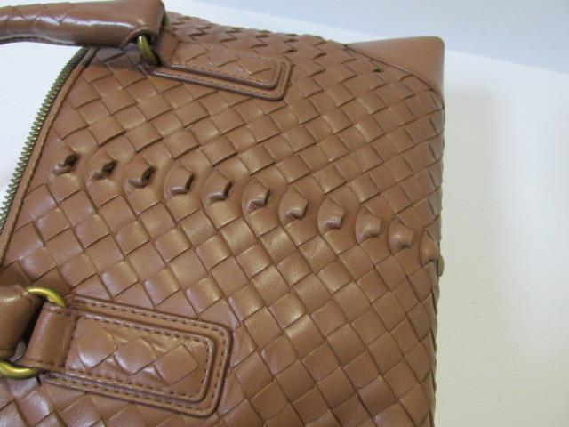 《超美品》Bottega Veneta ボッテガ・ヴェネタ イントレチャート バッグ ナッパ 本革 DHEG19-5_画像4