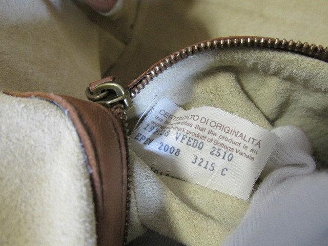 《超美品》Bottega Veneta ボッテガ・ヴェネタ イントレチャート バッグ ナッパ 本革 DHEG19-5_画像10