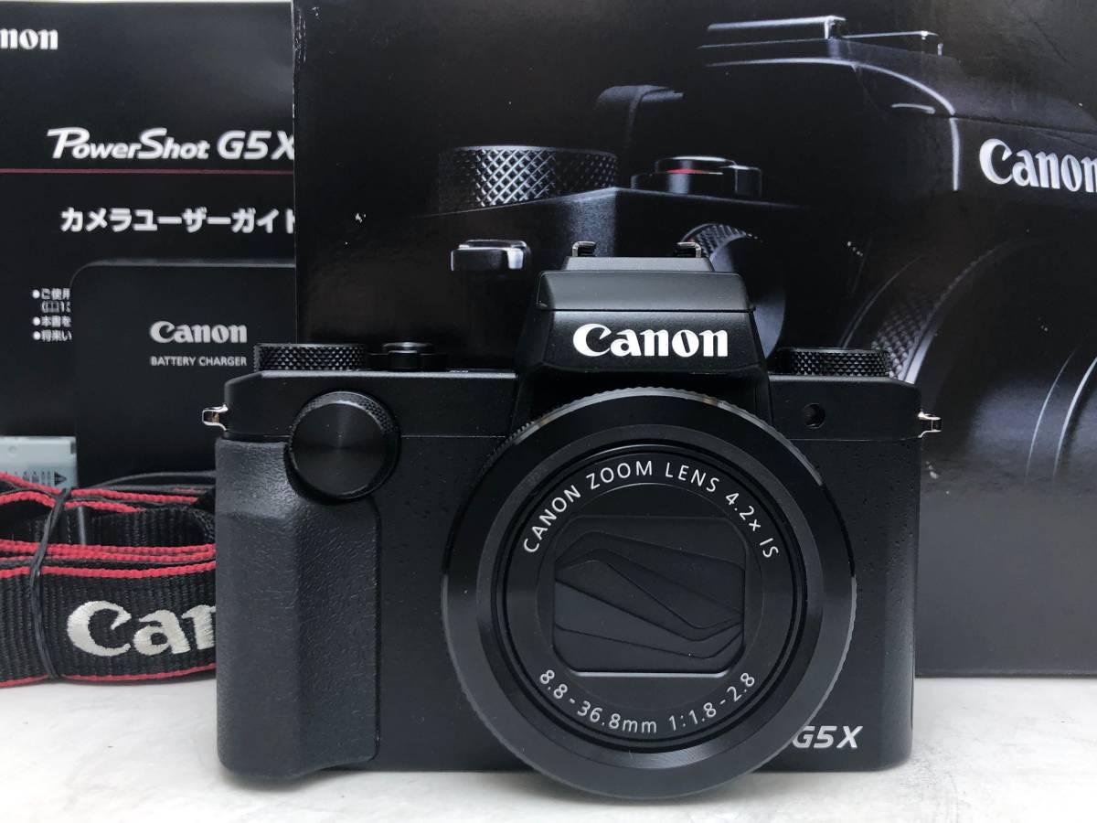 ◆新品同様◆Canon キャノン デジタルカメラ PowerShot パワーショット G5X ブラック 安心の6カ月保証 元箱付 #528