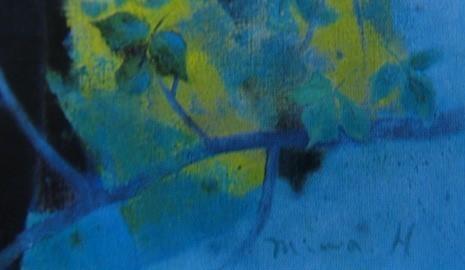 浜口 美和 【自然との会話】 希少画集画、状態良好、新品高級額装付、送料無料、洋画 油彩 風景_画像5