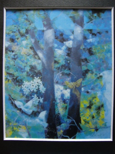 浜口 美和 【自然との会話】 希少画集画、状態良好、新品高級額装付、送料無料、洋画 油彩 風景_画像3