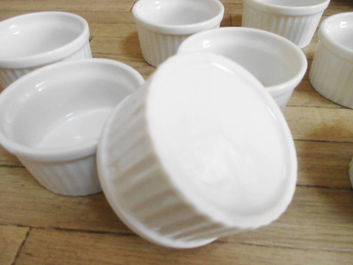 ⑤白 ココット皿 10客セット グラタン、ブリュレ、ミニサラダなどにも!_画像4