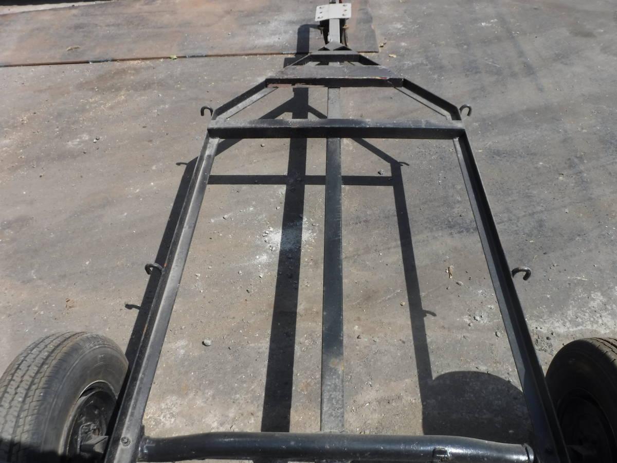 №194 アルミボート バスフィッシングボート トレーラー牽引車 搬送車 ジェットスキー FRP小型ボートトレーラー牽引台車 中古_画像4