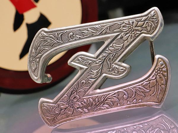 超美品 ゼル ZELE 極希少 最初期モデル 銀無垢 総彫刻 スターリングシルバー エングレイブド Zバックル メンズベルト SV925 本物 正規_極希少最初期ZELEの銀無垢Zバックルです!!
