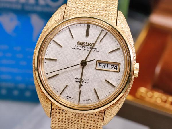 幻のKS系譜 フルオリジナル 総金無垢 K18イエローゴールド クロノメーター メンズウォッチ 純正18金ブレス 紳士腕時計 保証書付 本物 正規