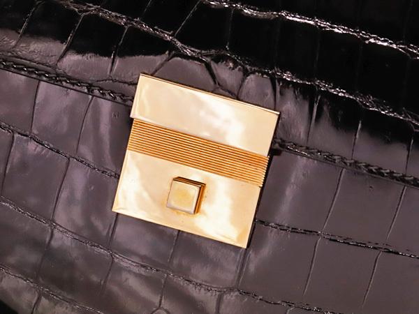 超美品 スプレアフィコ 最高級手縫いクロコダイルレザーメンズ書類ビジネスバッグ 黒 ブラック 仕事鞄 クロコ ブリーフケース 本物 正規_画像5
