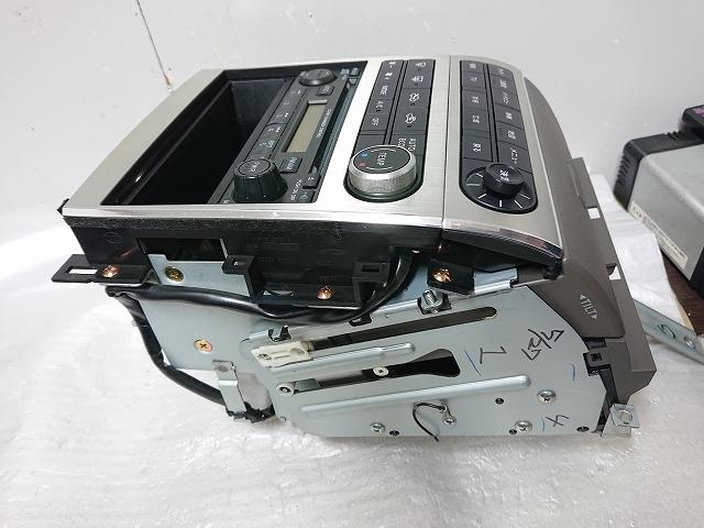 ステージア M35 後期 2DIN オーディオ パネル ナビ モニター CDデッキ付 エアコン ナビ スイッチ スカイラインV35 確認済み _画像8
