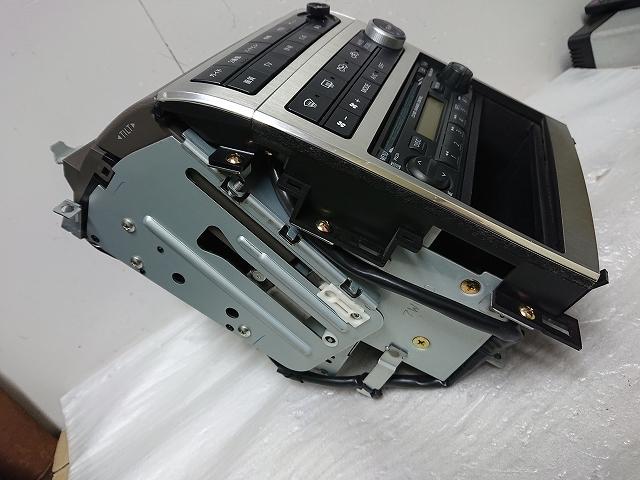 ステージア M35 後期 2DIN オーディオ パネル ナビ モニター CDデッキ付 エアコン ナビ スイッチ スカイラインV35 確認済み _画像7
