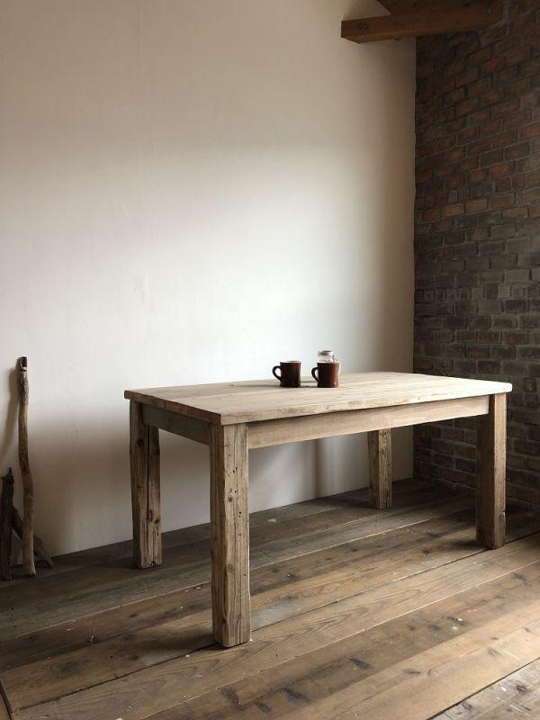 数量限定 OWT-150 ダイニングテーブル テーブル デスク ワークデスク カフェテーブル 作業台 古材 机_画像1