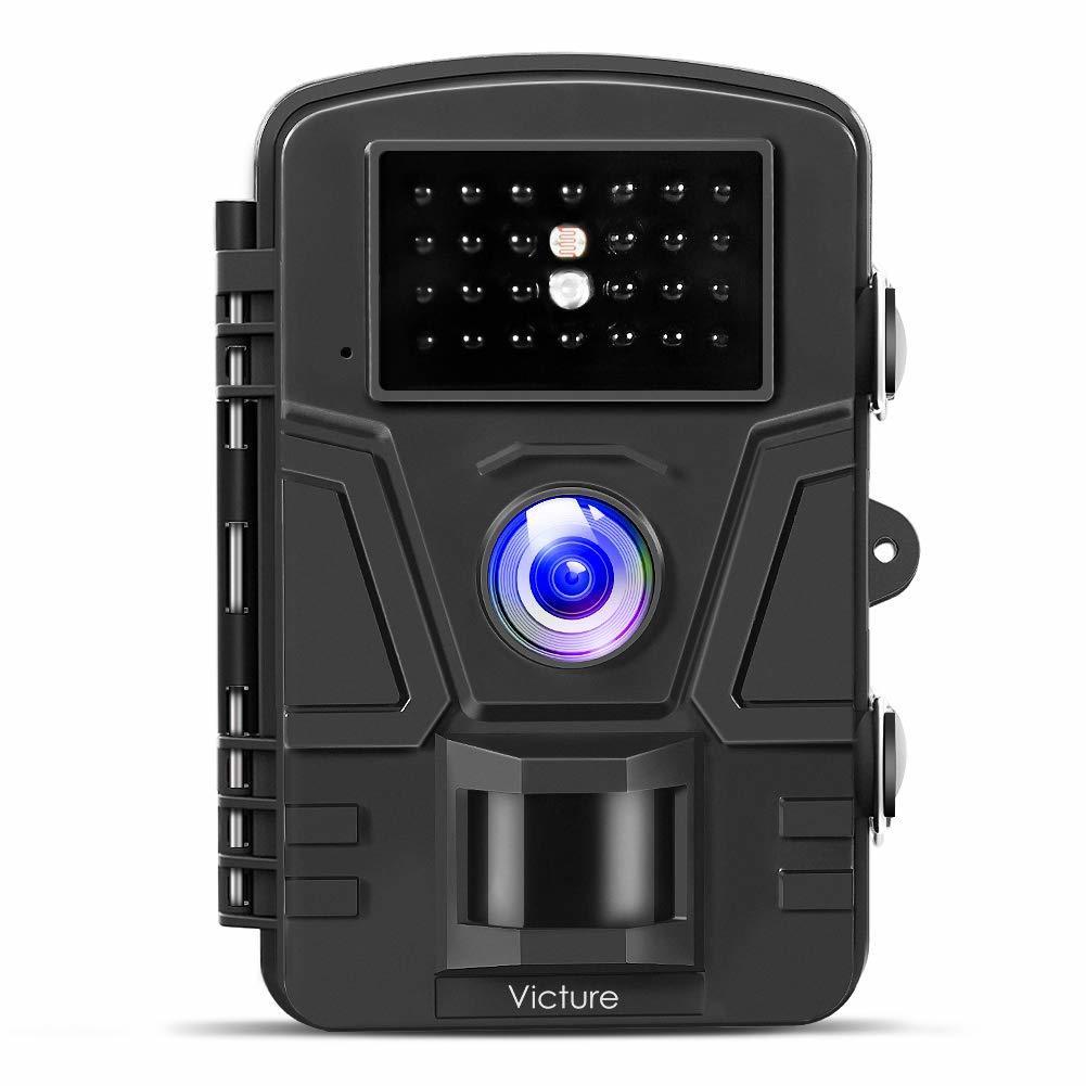 Victure トレイルカメラ 不可視赤外線 1200万画素 1080PフルHD 防犯カメラ 電池式 人感センサー 90度検知範囲 防水防塵