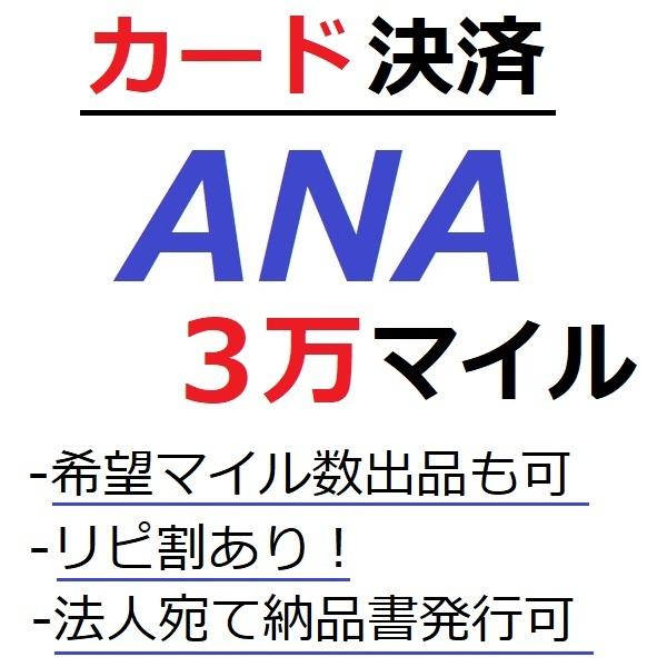 ANA30000マイル加算●国内線や国際線特典航空券予約発券や提携施設利用に/ANA3万マイル/ANA30,000マイル/マイレージ/カード決済許可/施_画像1