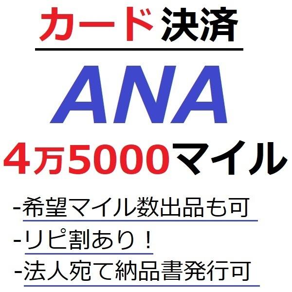 ANA45000マイル加算●国内線や国際線特典航空券予約発券や提携施設利用に/ANA4万5000マイル/ANA45,000マイル/マイレージ/カード決済許可/施_画像1