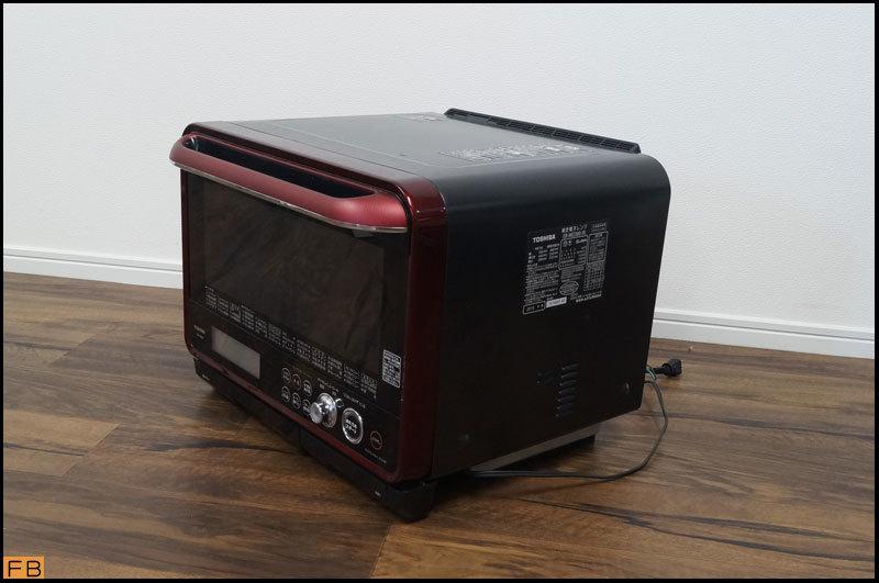 税込◆TOSHIBA◆過熱水蒸気オーブンレンジ ER-MD200 30L グンランレッド 取説付 東芝-B64452_画像2