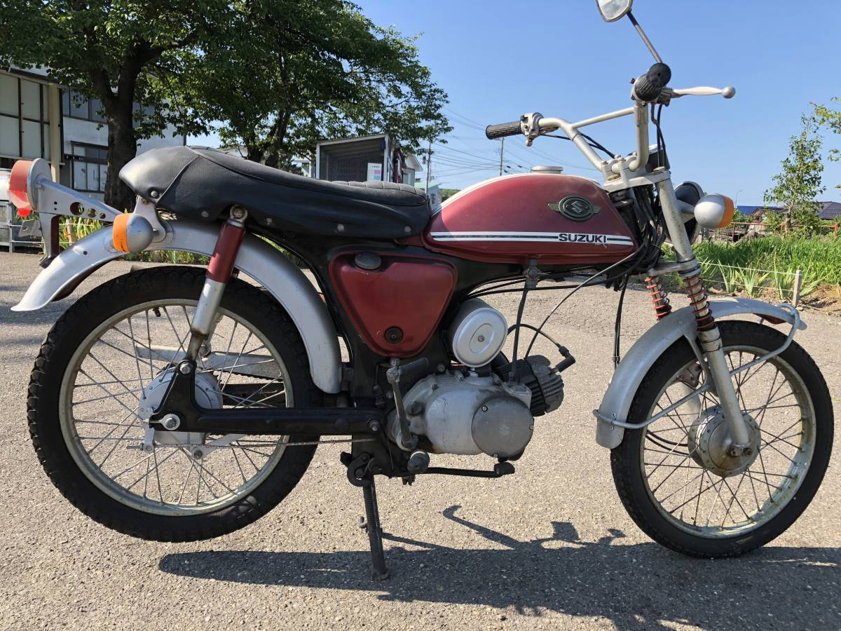 スズキ  スクランブラー  AC50  レストアベース  1970年  ハスラー_画像2