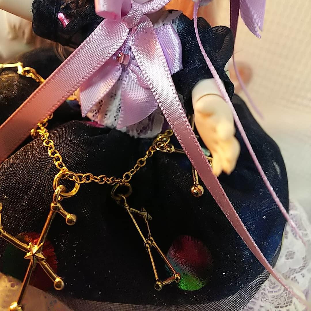 【BettyRose】オビツ11☆あまむす☆ミニスィーツドール☆アンドロメダドレス3点セット_画像4