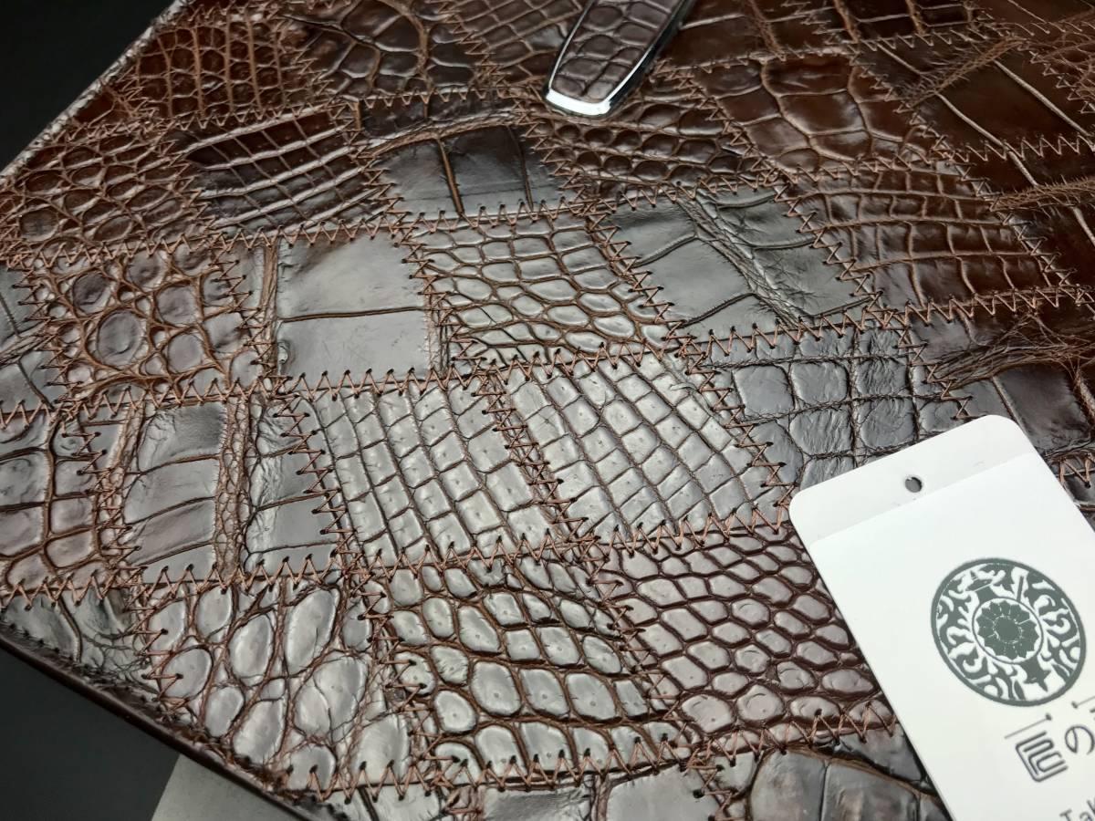 匠の神~クロコダイルレザー ショルダーバッグ本物 ワニ革 メンズ ビジネスバッグ 鰐革 総本革 2WAY A4書類鞄 ハンドバッグ _画像6