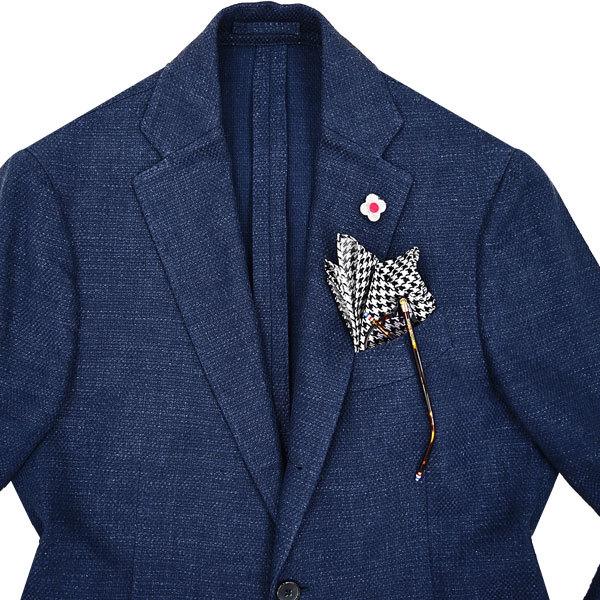 贅の極◎!!!「LARDINI/ラルディーニ」夏の清涼リネン素材を使用した!贅沢リッチなポップサック編み仕立て◎ 大人の極上ジャケット 44