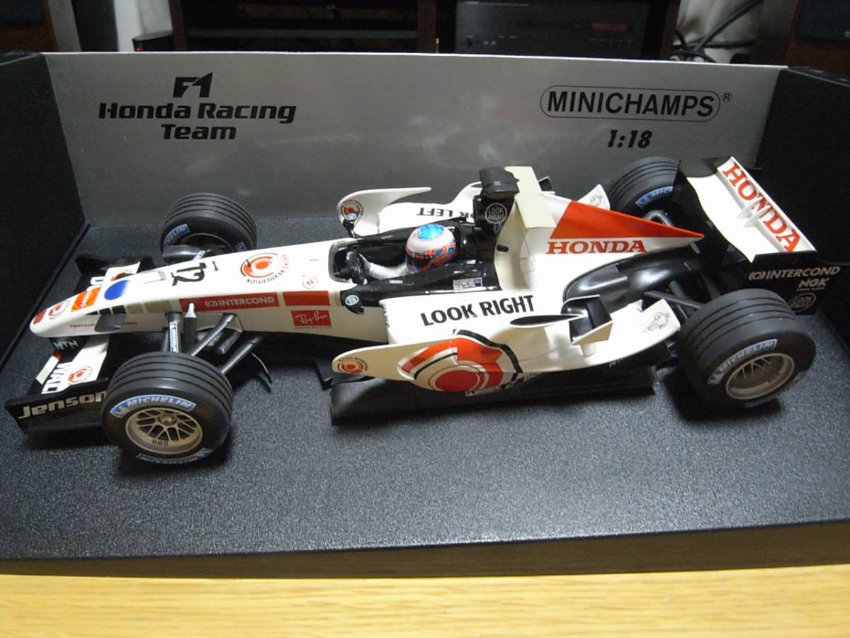 ★美品 1/18 PMA ホンダ RA106 2006 ジェイソン・バトン HONDA RACING F1 TEAM_画像3