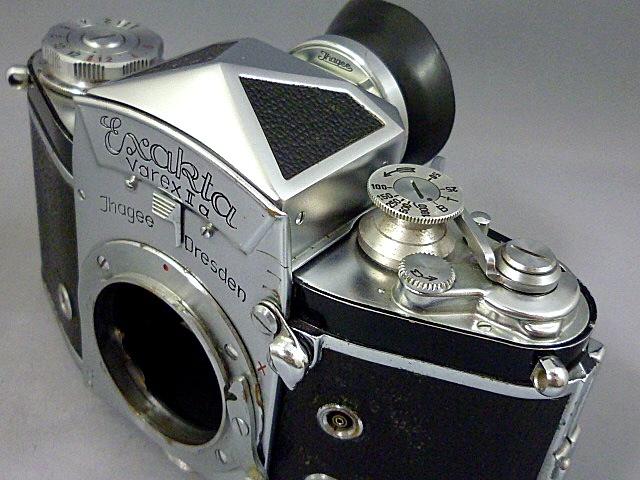 ◇エキサクタ EXAKTA VAREX Ⅱa 最初期型 ボディ 革ケース・アイカップ付_画像6