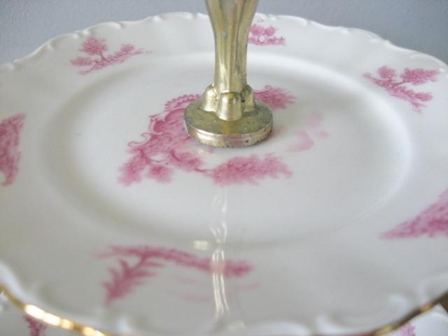 ★アンティーク品★ケーキスタンド 2段プレート お皿 フランス_画像3