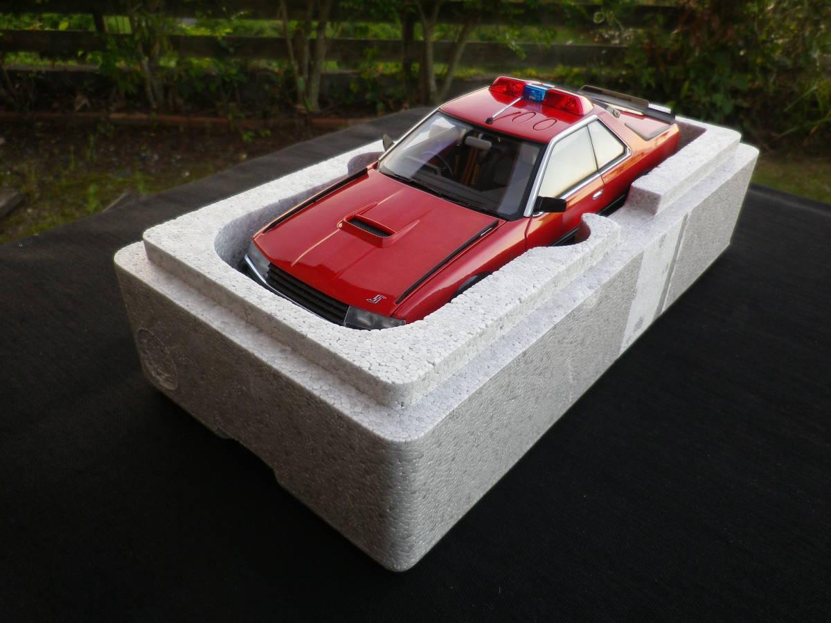 絶版!Aa 1/18 希少! 西部警察 Nissan スカイライン Macin RS-1 日産 DR30 大門軍団 パトカー RED / BLACK_画像7