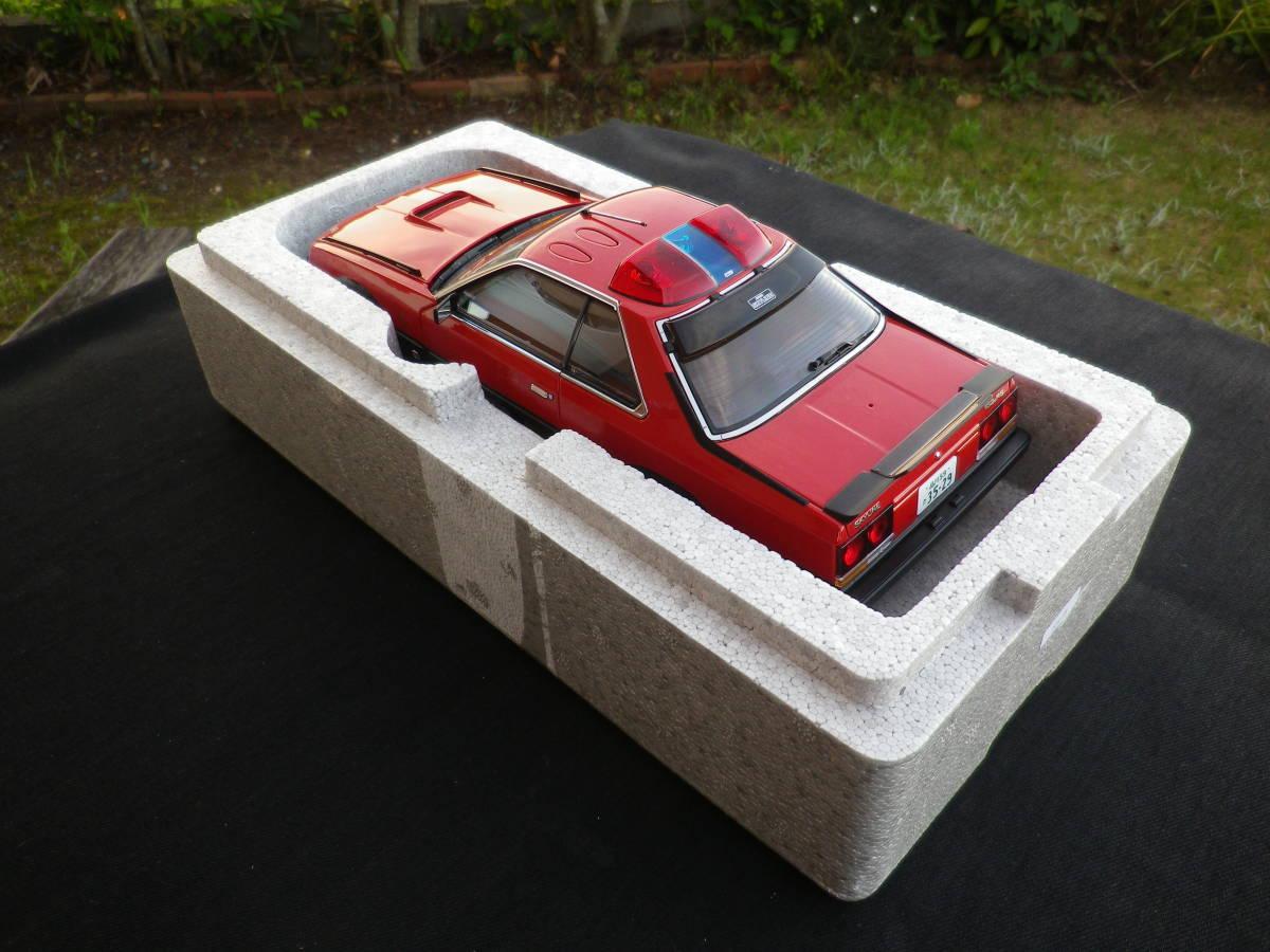 絶版!Aa 1/18 希少! 西部警察 Nissan スカイライン Macin RS-1 日産 DR30 大門軍団 パトカー RED / BLACK_画像10