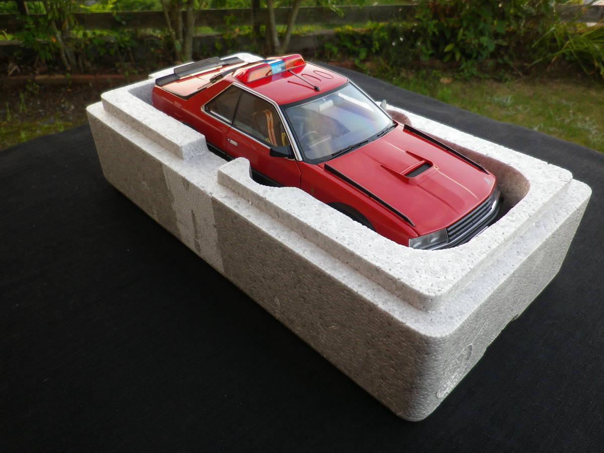 絶版!Aa 1/18 希少! 西部警察 Nissan スカイライン Macin RS-1 日産 DR30 大門軍団 パトカー RED / BLACK_画像8