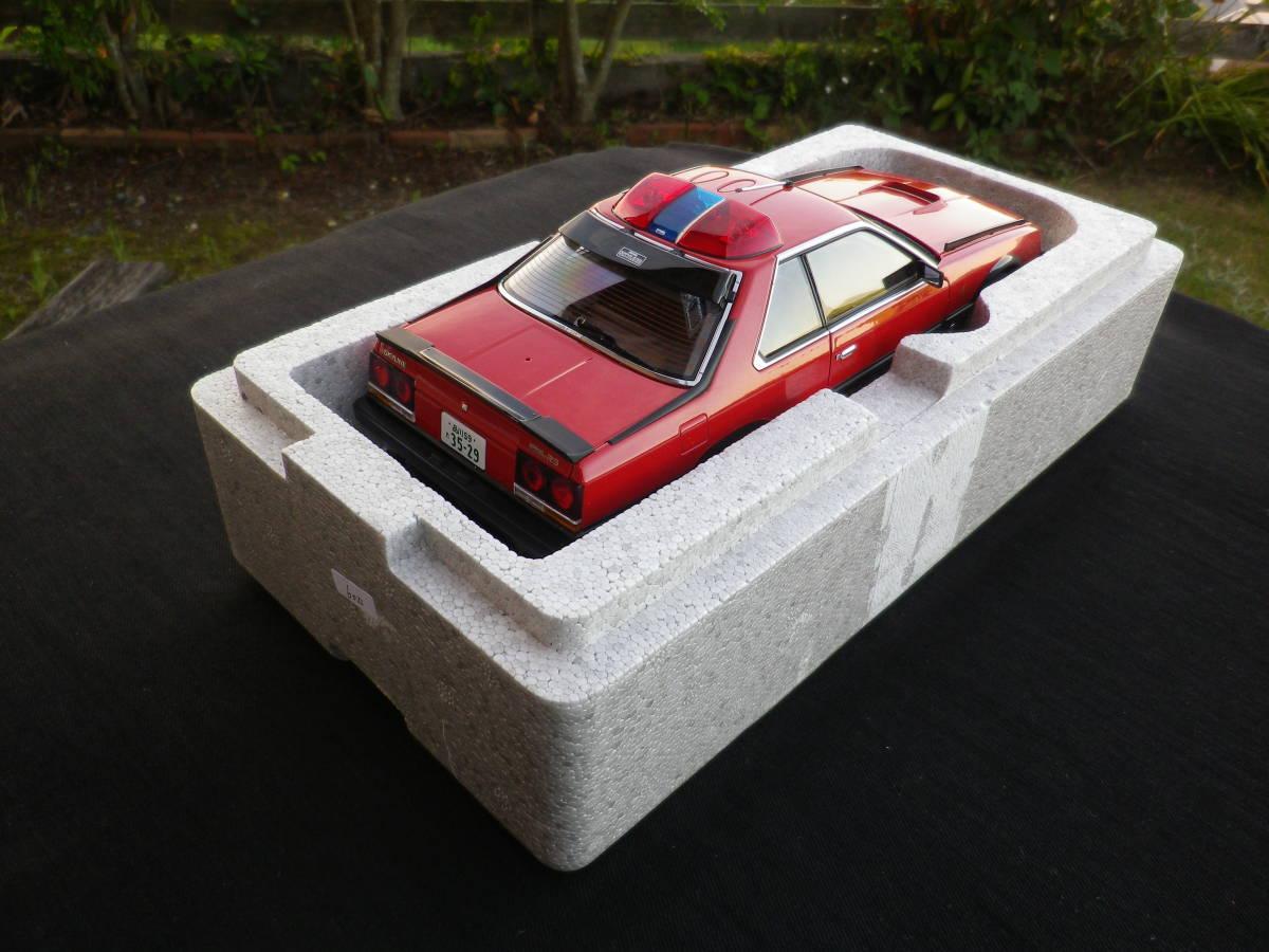 絶版!Aa 1/18 希少! 西部警察 Nissan スカイライン Macin RS-1 日産 DR30 大門軍団 パトカー RED / BLACK_画像9