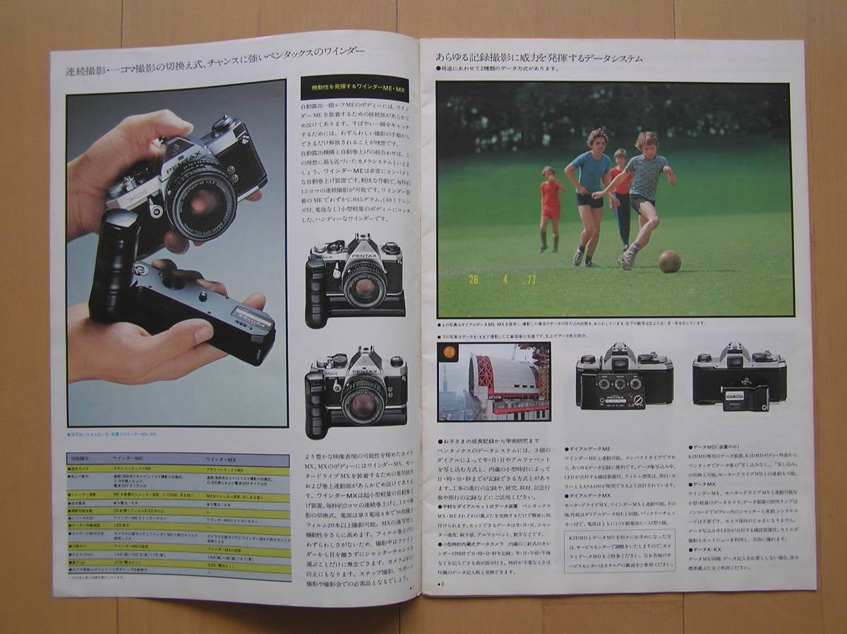 【送料無料!!】ペンタックス レンズとアクセサリー カタログ[1977(昭和52)年6月版]_画像2