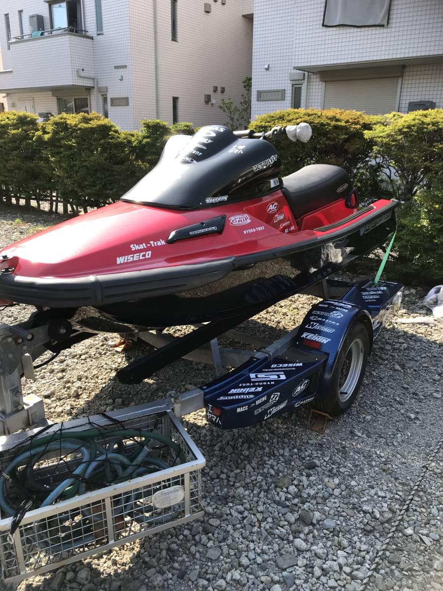 ヤマハ 650TL 改造多数 完全整備トレーラー付(軽登録)川でのみ使用 マニア必見!!7月中に直接取引出来る方