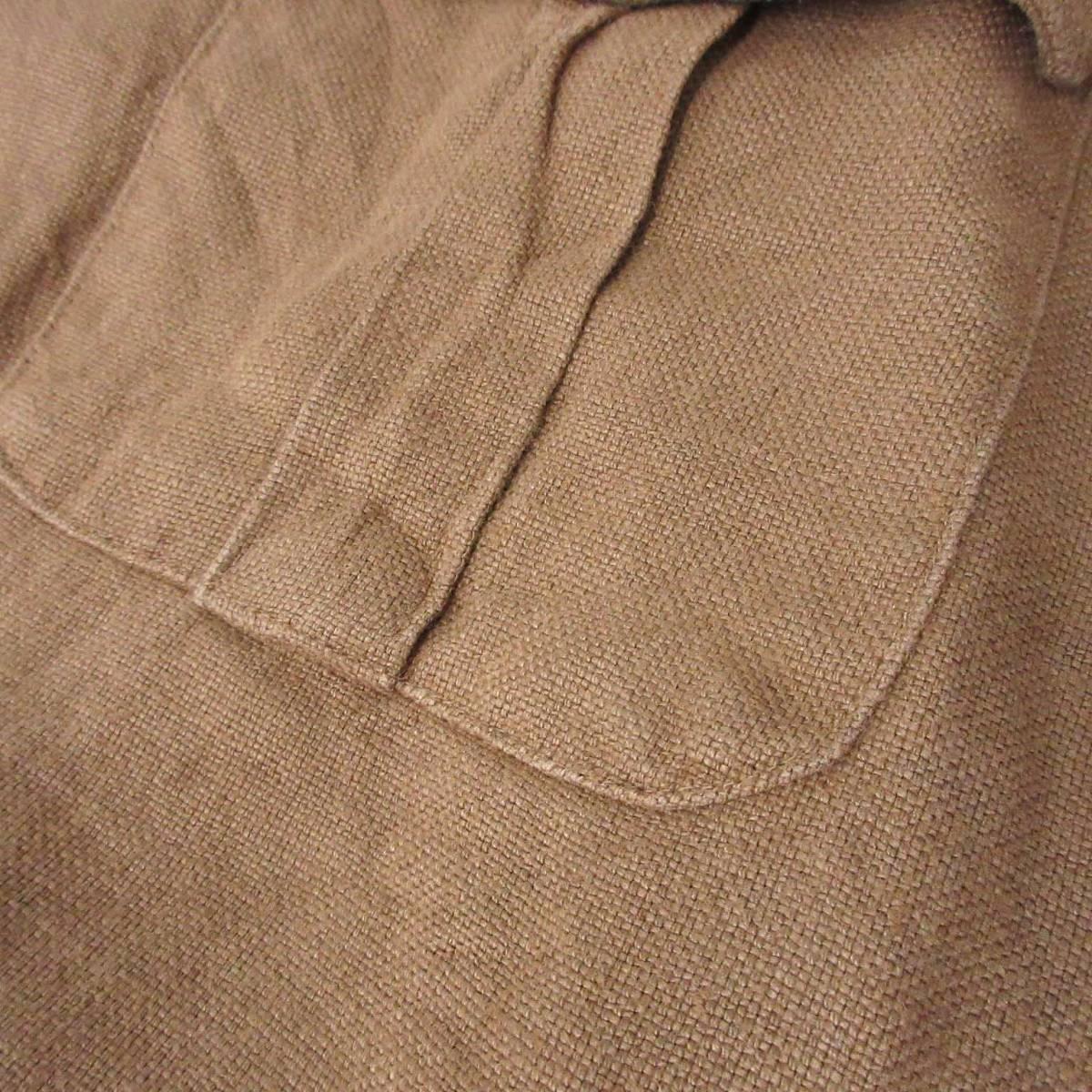Polo by Ralph Lauren ポロバイラルフローレン ジャケット リネン 麻 100% ベルト ブラウン 茶 XL_画像7