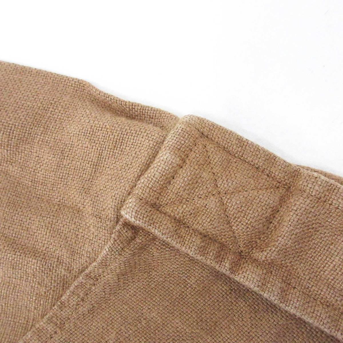 Polo by Ralph Lauren ポロバイラルフローレン ジャケット リネン 麻 100% ベルト ブラウン 茶 XL_画像8