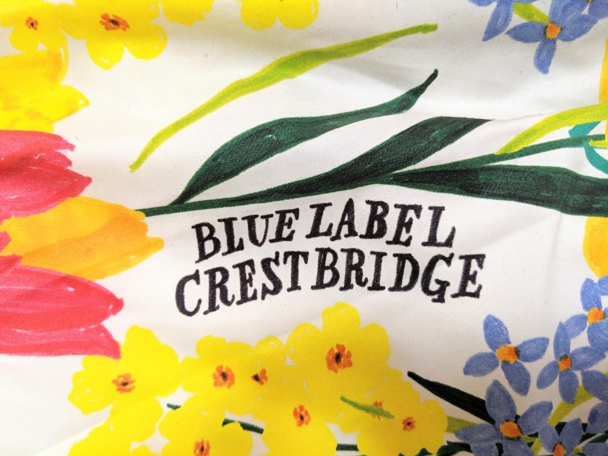 ブルーレーベル クレストブリッジ BLUE LABEL CRESTBRIDGE バックジップ花柄ロングスカート 38(M) マルチカラー _画像3