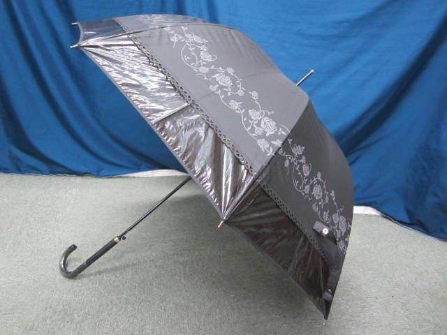 (せ-A1-241) 検品済み レディース 長傘 雨傘 5本セット 花柄 チェック柄 ストライプ柄 他 梅雨 通勤 通学 置き傘 中古_画像6