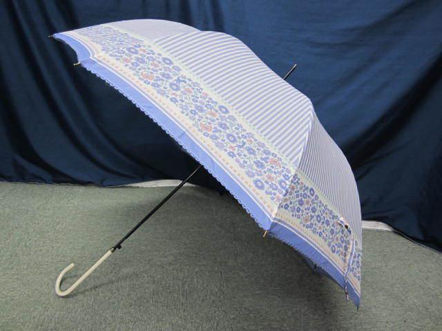 (せ-A1-241) 検品済み レディース 長傘 雨傘 5本セット 花柄 チェック柄 ストライプ柄 他 梅雨 通勤 通学 置き傘 中古_画像5