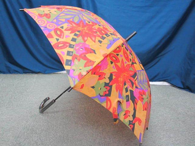 (せ-A1-241) 検品済み レディース 長傘 雨傘 5本セット 花柄 チェック柄 ストライプ柄 他 梅雨 通勤 通学 置き傘 中古_画像7