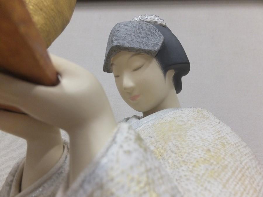 【真作保証】 小松康城 自作 木彫 桐塑布貼人形 第10回日本伝統工芸展 出品作品 (平田郷陽) 第一級銘品 生人形 創作人形の代表作家_画像4