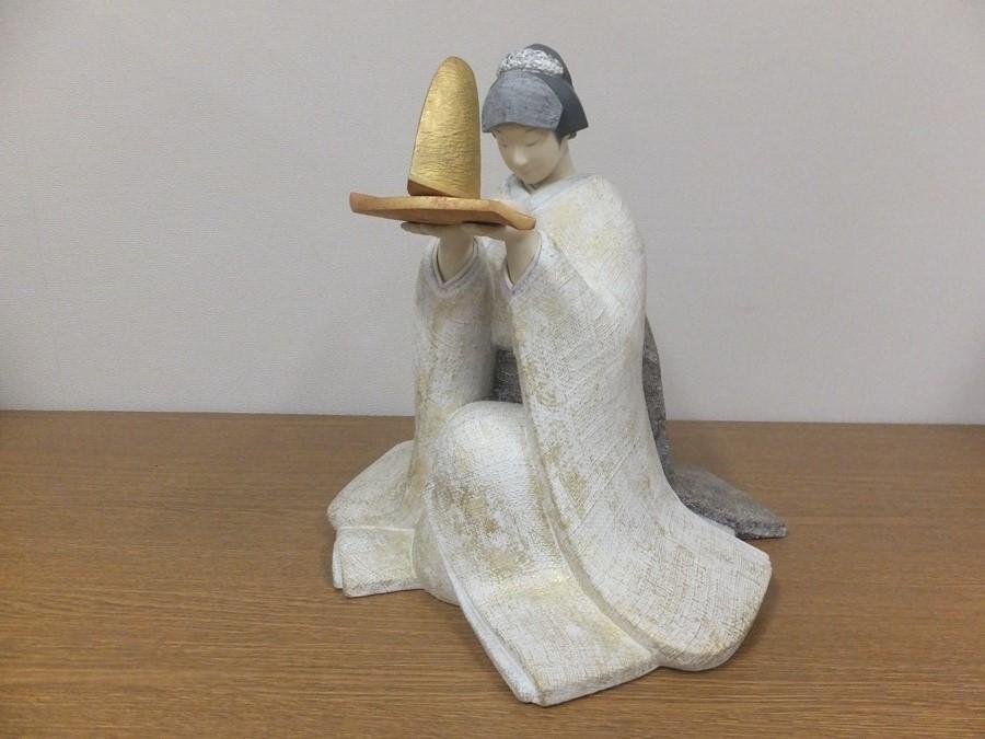【真作保証】 小松康城 自作 木彫 桐塑布貼人形 第10回日本伝統工芸展 出品作品 (平田郷陽) 第一級銘品 生人形 創作人形の代表作家