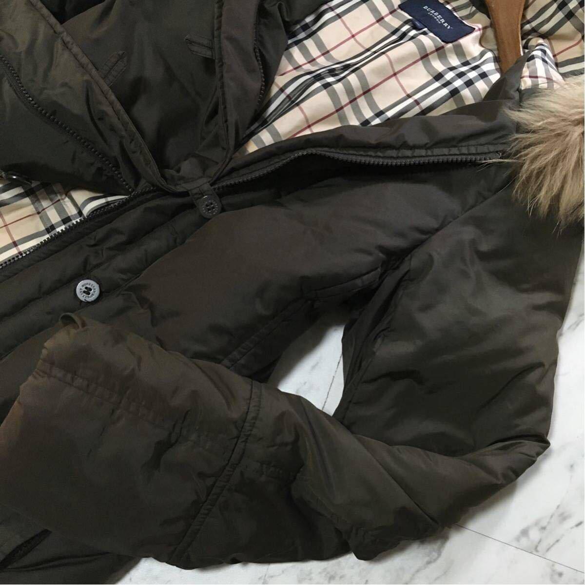 美品BURBERRY10万超【高級ダウン90% 上質ラクーンファ使用】肉厚 ダウンジャケットコート バーバリーロンドン レディース_画像7