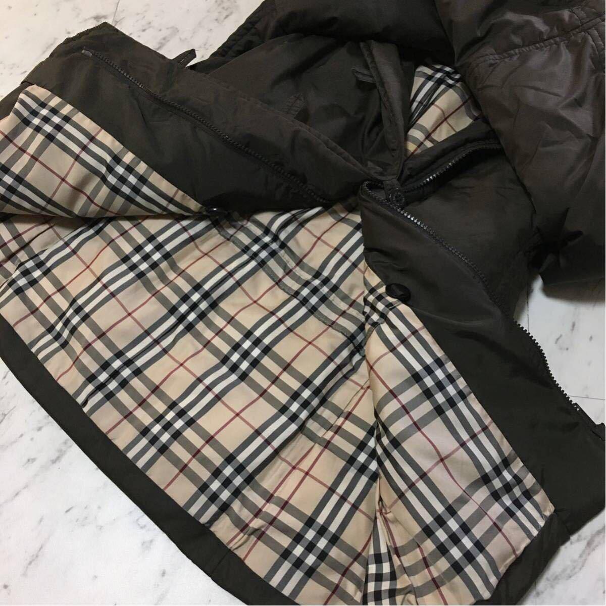 美品BURBERRY10万超【高級ダウン90% 上質ラクーンファ使用】肉厚 ダウンジャケットコート バーバリーロンドン レディース_画像3
