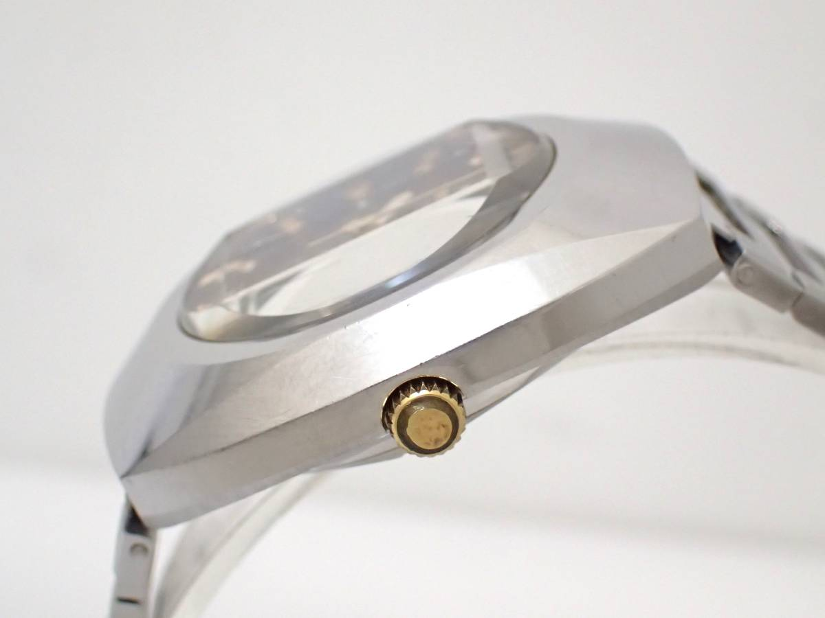 TECHNOSテクノス/FIRE BIRD/自動巻き/メンズ腕時計/デイデイト/カットガラス/グラデーション文字盤/純正ブレス[T]_画像4