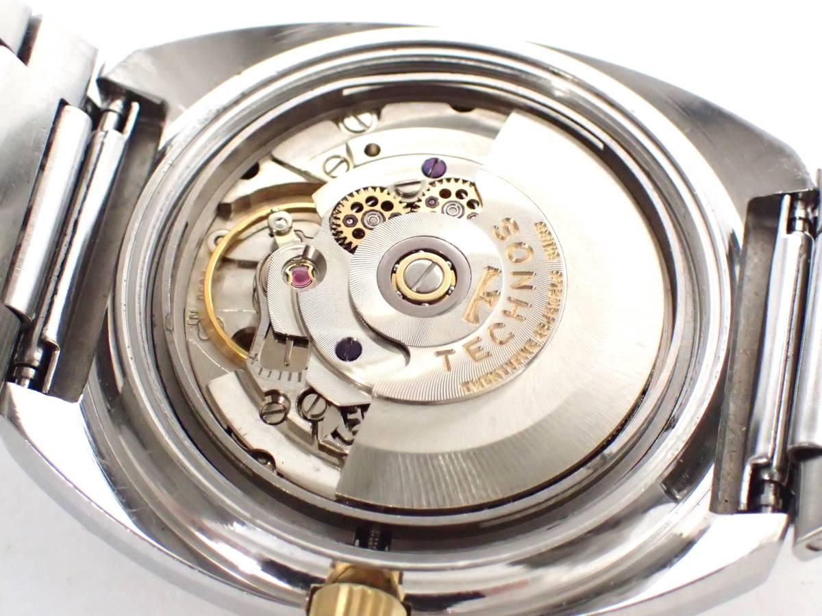 TECHNOSテクノス/FIRE BIRD/自動巻き/メンズ腕時計/デイデイト/カットガラス/グラデーション文字盤/純正ブレス[T]_画像7