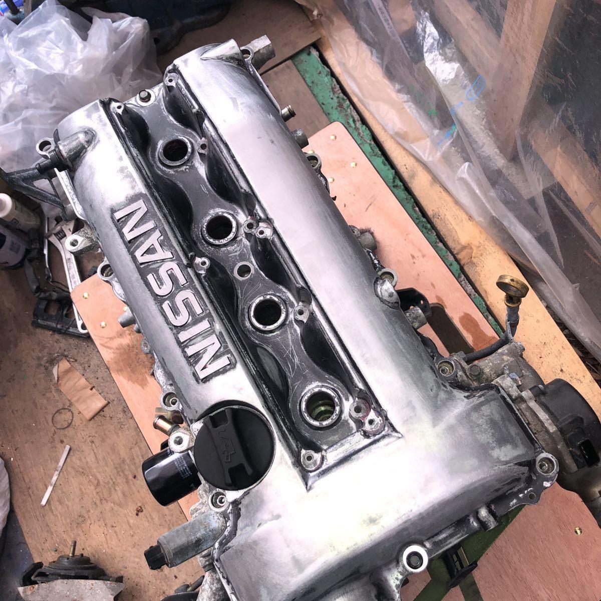 SR20 ターボエンジン S15 ヘッドガスケットメタル 社外カム エンジンのみ シルビア_画像10