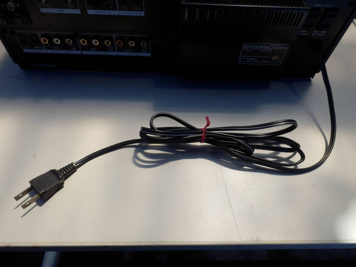 SONY ソニー SL-HF3000 ベータビデオデッキ 通電確認済み ※一応ジャンク扱い_画像9