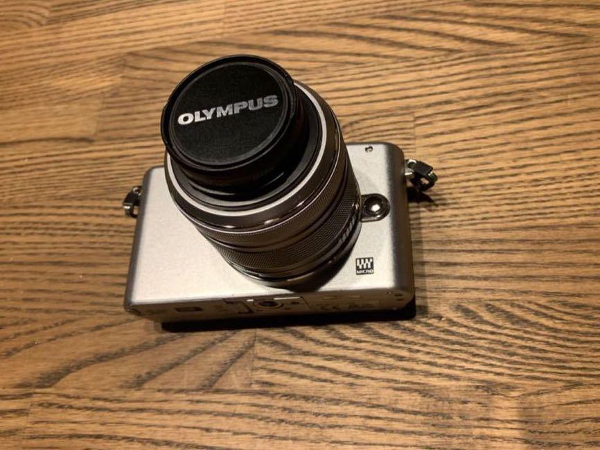 ミラーレス一眼 OLYMPUS PEN mini E-PM1 レンズキット シルバー おまけたくさん。_画像8