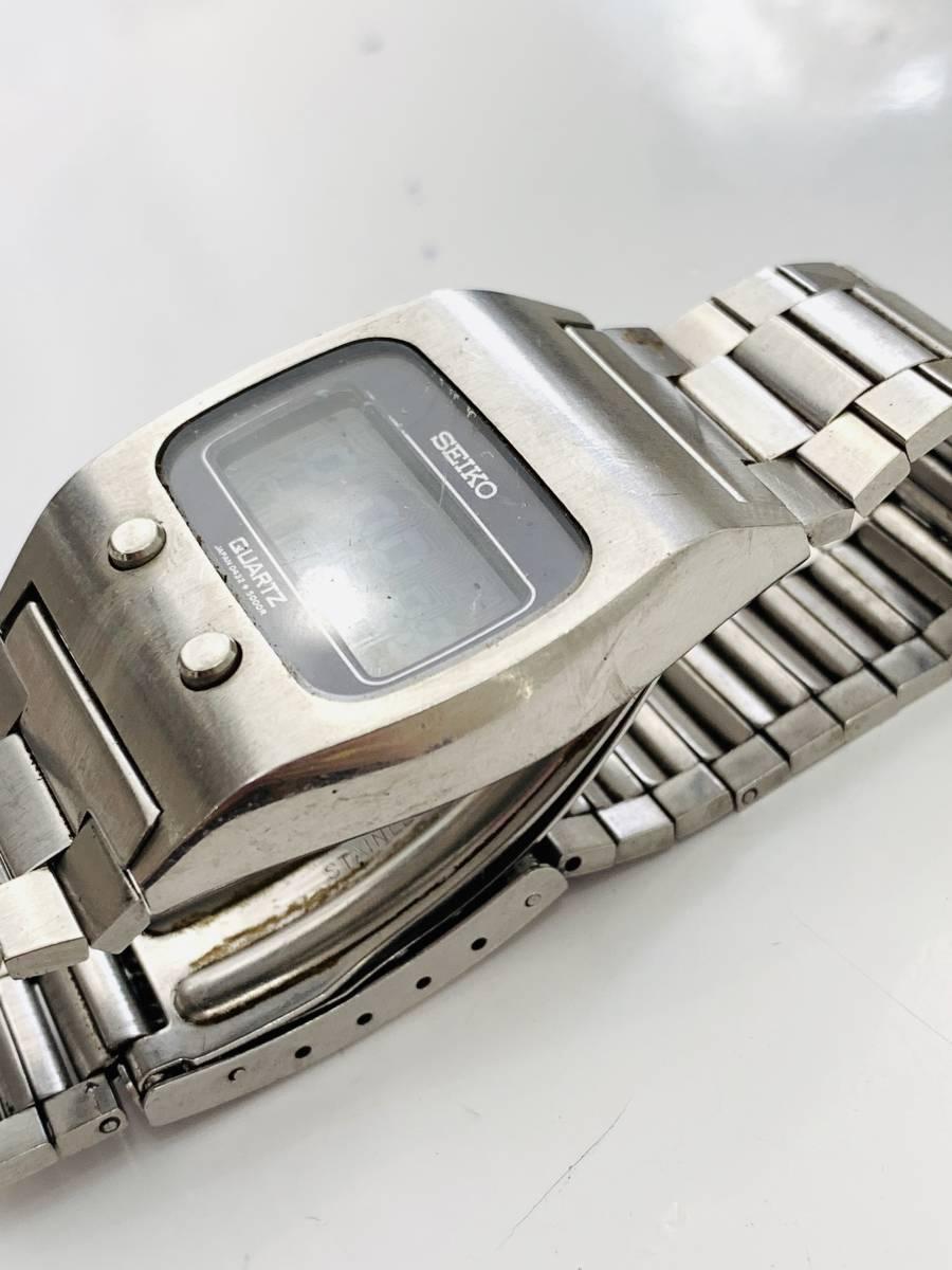 2150 480円~ 中古品 SEIKO/セイコー 初期デジタルウォッチ 0432-5001 フロントボタン クォーツ メンズ 腕時計_画像2