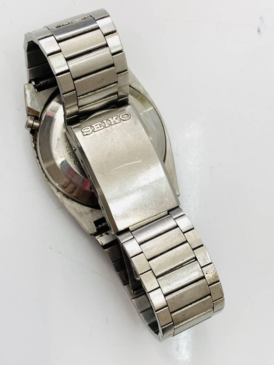 2150 480円~ 中古品 SEIKO/セイコー 初期デジタルウォッチ 0432-5001 フロントボタン クォーツ メンズ 腕時計_画像8